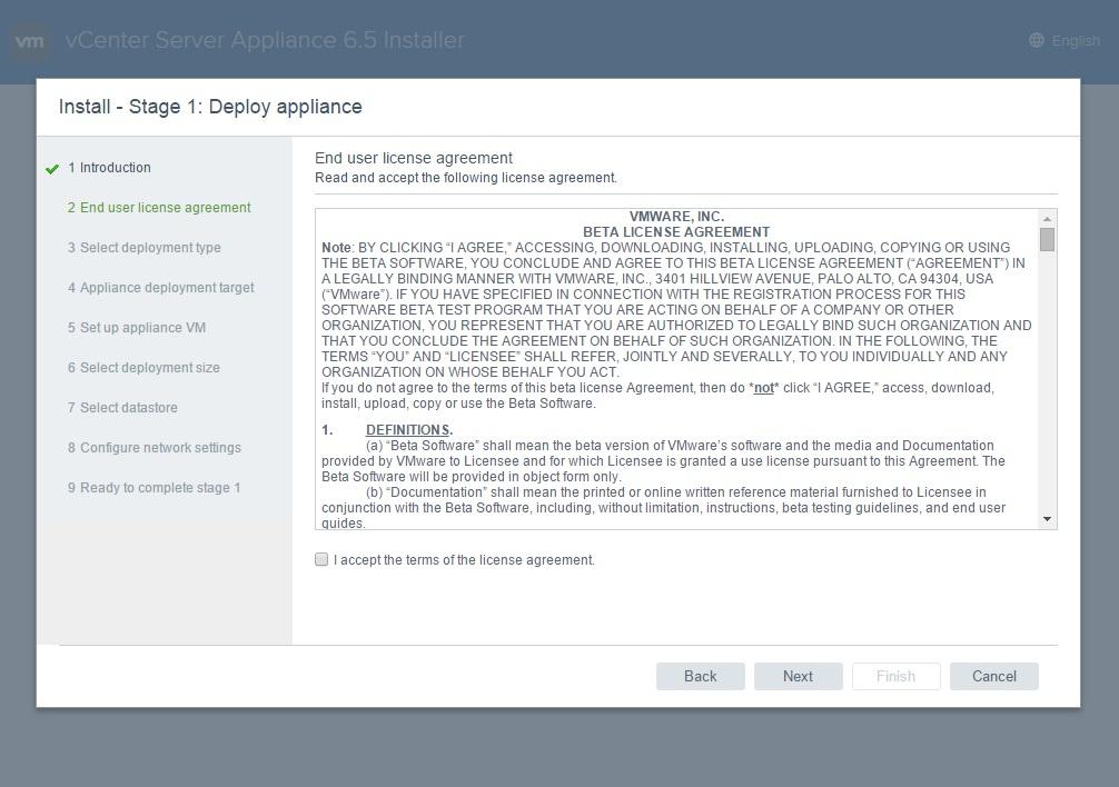 نرم افزار VMware vCenter Server 6.5 RC